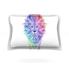 Rainbow Lion by Monika Strigel Cotton Pillow Sham