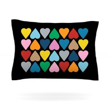 Up and Down Hearts by Project M Woven Pillow Sham