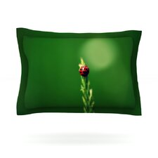 Ladybug Hugs by Robin Dickinson Cotton Pillow Sham