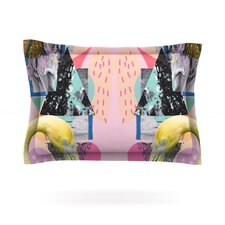 Flamingo Tropical by Vasare Nar Woven Pillow Sham
