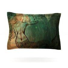 Poor Mermaid by Theresa Giolzetti Cotton Pillow Sham