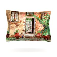 Tuscan Door by Theresa Giolzetti Woven Pillow Sham
