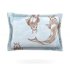 Koi by Sam Posnick Cotton Pillow Sham
