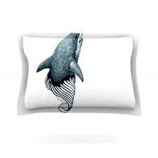 Shark Record by Graham Curran Cotton Pillow Sham