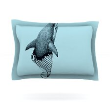 Shark Record II by Graham Curran Cotton Pillow Sham