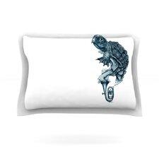 Turtle Tuba by Graham Curran Woven Pillow Sham