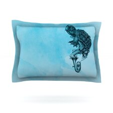 Turtle Tuba III by Graham Curran Cotton Pillow Sham