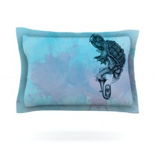 Turtle Tuba II by Graham Curran Woven Pillow Sham