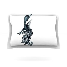 Swan Horns by Graham Curran Woven Pillow Sham