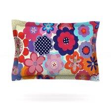 Patchwork Flowers by Louise Machado Cotton Pillow Sham