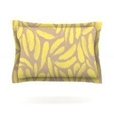 Yellow Feather by Skye Zambrana Cotton Pillow Sham