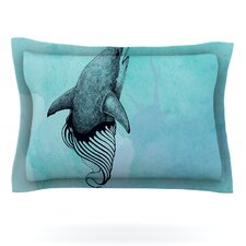 Shark Record III by Graham Curran Cotton Pillow Sham