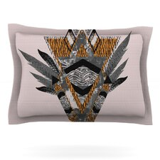 Indian Feather by Vasare Nar Cotton Pillow Sham