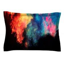 Rainbow Black by Caleb Troy Cotton Pillow Sham