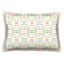 Neon Triangles by Empire Ruhl Cotton Pillow Sham