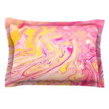 Bubble Gum Pink by Ingrid Beddoes Woven Pillow Sham