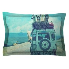 Never Stop Exploring III by Monika Strigel Cotton Pillow Sham