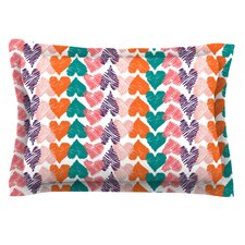 Hearts by Louise Machado Cotton Pillow Sham