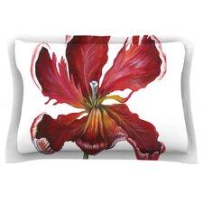 Open Tulip by Lydia Martin Cotton Pillow Sham