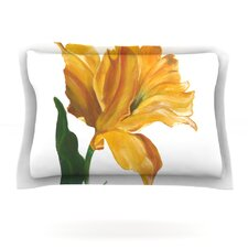 Yellow Tulip by Lydia Martin Cotton Pillow Sham