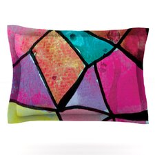 Stain Glass 3 by Theresa Giolzetti Cotton Pillow Sham