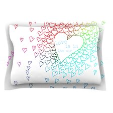 Rainbow Hearts by Monika Strigel Cotton Pillow Sham