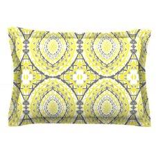 Yellow Tessellation by Miranda Mol Cotton Pillow Sham
