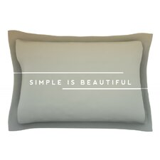 Simple Beautiful by Galaxy Eyes Cotton Pillow Sham