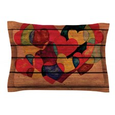Wooden Heart by Louise Machado Cotton Pillow Sham