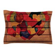 Wooden Heart by Louise Machado Woven Pillow Sham