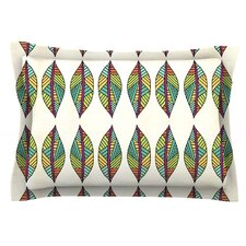 Tribal Leaves by Pom Graphic Design Cotton Pillow Sham
