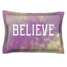 Believe by Rachel Burbee Cotton Pillow Sham