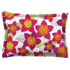 Star Flower by Jacqueline Milton Cotton Pillow Sham