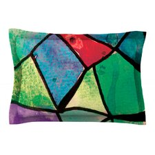 Stain Glass 1 by Theresa Giolzetti Cotton Pillow Sham