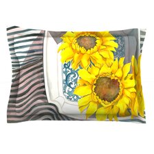 Finall Sunflower by S. Seema Z Cotton Pillow Sham