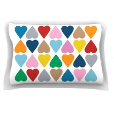 Diamond Hearts by Project M Cotton Pillow Sham
