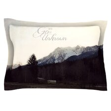 Go Into the Unknown by Robin Dickinson Cotton Pillow Sham