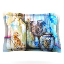 Bottled Animals by Kira Crees Woven Pillow Sham