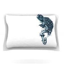 Turtle Tuba by Graham Curran Cotton Pillow Sham