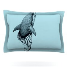 Shark Record II by Graham Curran Woven Pillow Sham