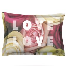 Love Love Love by Libertad Leal Woven Pillow Sham