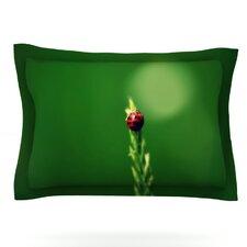 Ladybug Hugs by Robin Dickinson Woven Pillow Sham