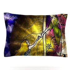 Fairy Tale off to Neverland by Mandie Manzano Woven Pillow Sham