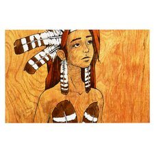 Owl Feather Dress by Brittany Guarino Decorative Doormat