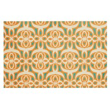 Swan Lake Turquoise by Catherine McDonald Decorative Doormat