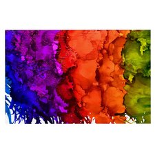 Rainbow Splatter by Claire Day Decorative Doormat