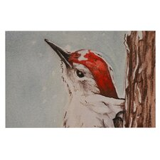 Downy Woodpecker by Brittany Guarino Decorative Doormat