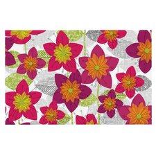 Star Flower by Jacqueline Milton Floral Decorative Doormat