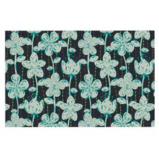 My Grey Spotted Flowers by Julia Grifol Decorative Doormat