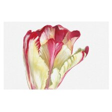 Red Tip Tulip by Lydia Martin Decorative Doormat